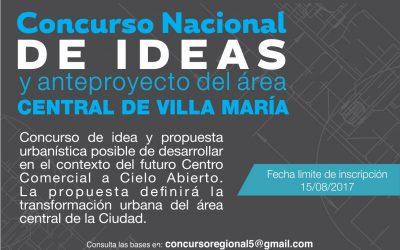 Concurso nacional de Ideas – Villa María