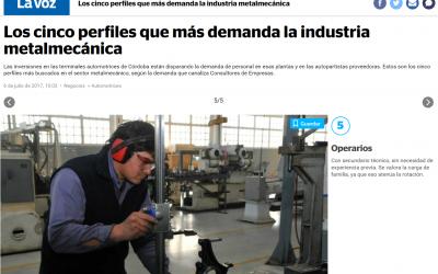 Los cinco perfiles que más demanda la industria metalmecánica