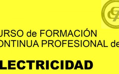CURSO DE FORMACION CONTINUA PROFESIONAL DE ELECTRICIDAD