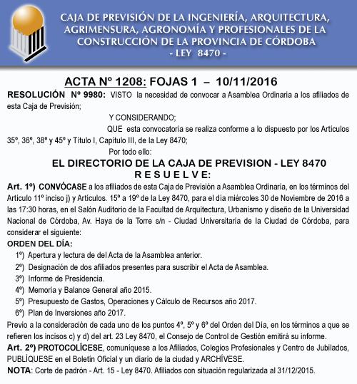 Asamblea Caja de Previsión Ley 8470