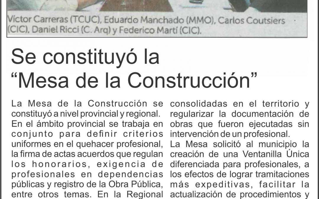 Mesa de la Construcción