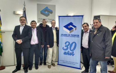 Inauguración y celebración 30º Aniversario: Colegio de Técnicos de Buenos Aires