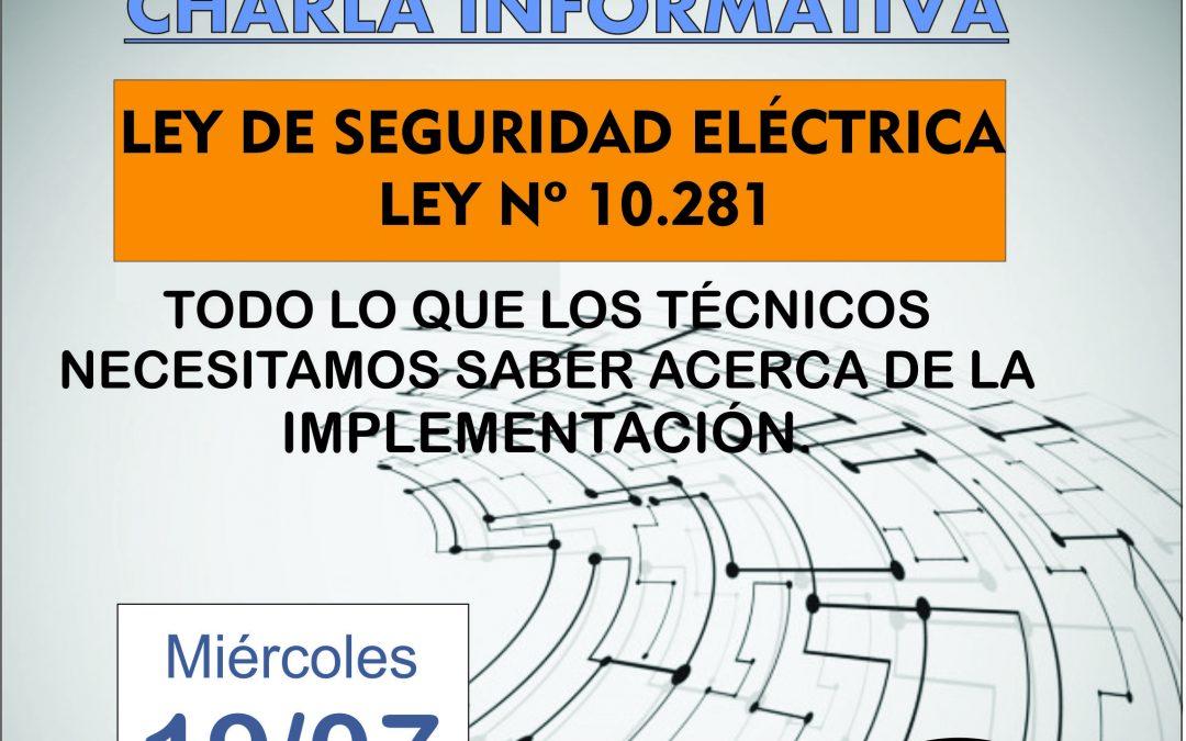 Seguridad Eléctrica – Charla informativa