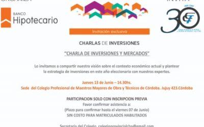 CHARLA SOBRE INVERSIONES Y MERCADO