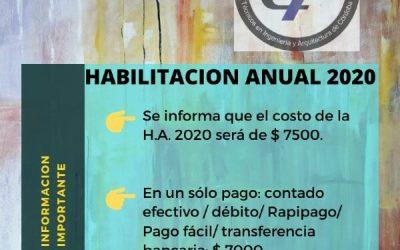 HABILITACION ANUAL 2020