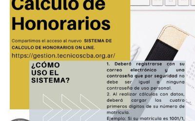 Las regionales del Colegio implementan el nuevo programa de autogestión: CÁLCULO DE HONORARIOS para sus matriculados