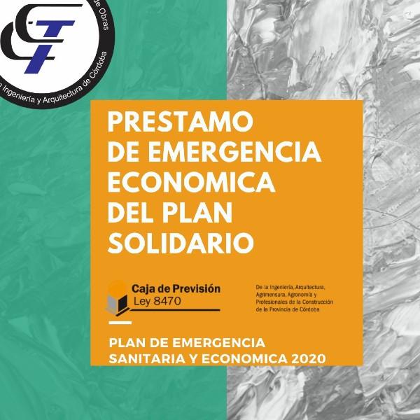 Préstamo de emergencia económica del plan solidario