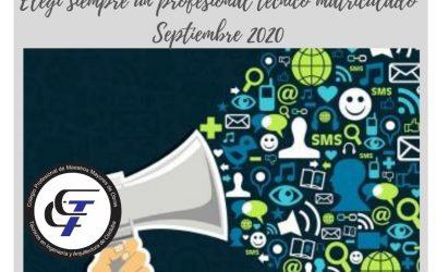 Campaña Publicitaria en La Voz: «Elegí a un profesional técnico matriculado»