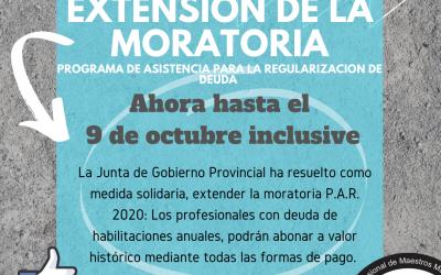 Extensión de la Moratoria 2020
