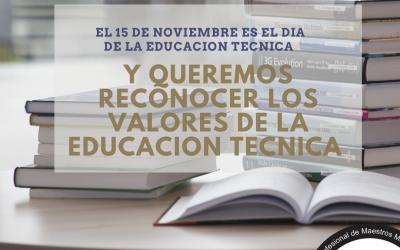 15 de Noviembre: Día de la Educación Técnica y el Colegio lanza nueva consigna en redes para sus matriculados