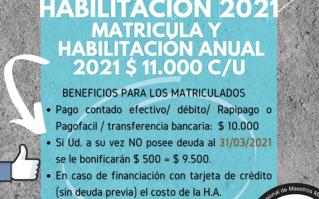 Habilitación 2021