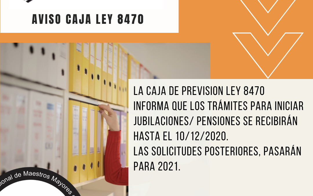 Aviso de la Caja de Previsión Ley 8470
