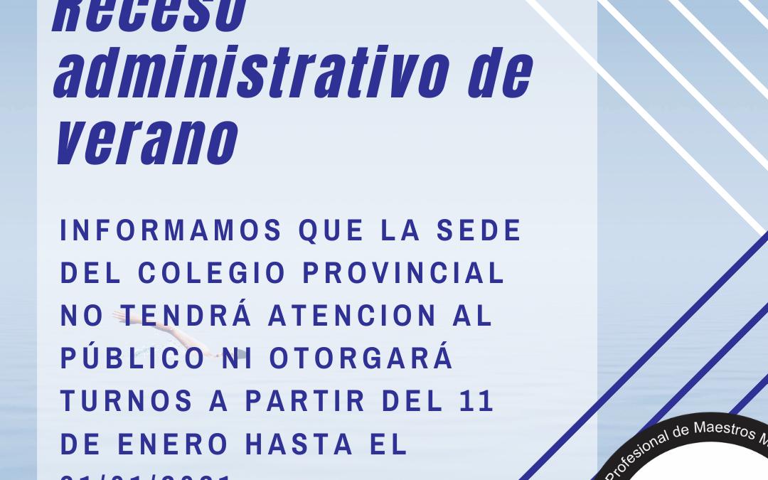 Receso administrativo de verano