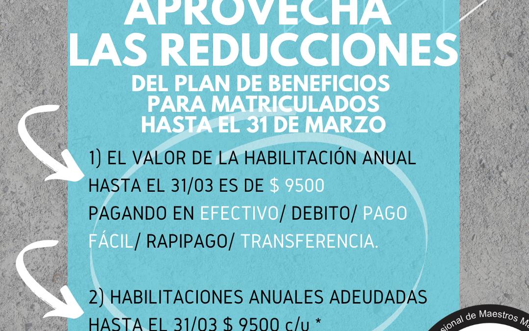 Costos HABILITACIÓN ANUAL: Plan de Beneficios   📌Marzo 2021✔️