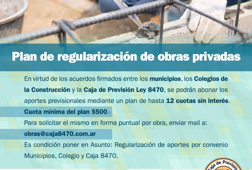 Plan de regularización de obras privadas